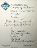 ACM Recognition of Service Award